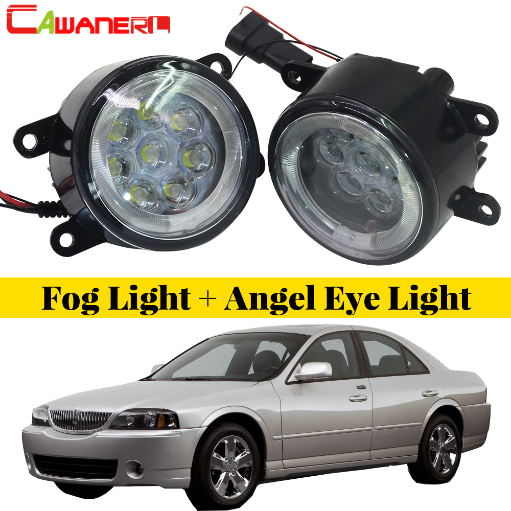 Cawanerl For 2005 2006 Lincoln LS Car Styling LED Fog Light Angel Eye Daytime Running Light Lamp DRL 12V High Bright for lincoln ls 2005 2006 h11 wiring harness sockets wire connector switch 2 fog lights drl front bumper led lamp