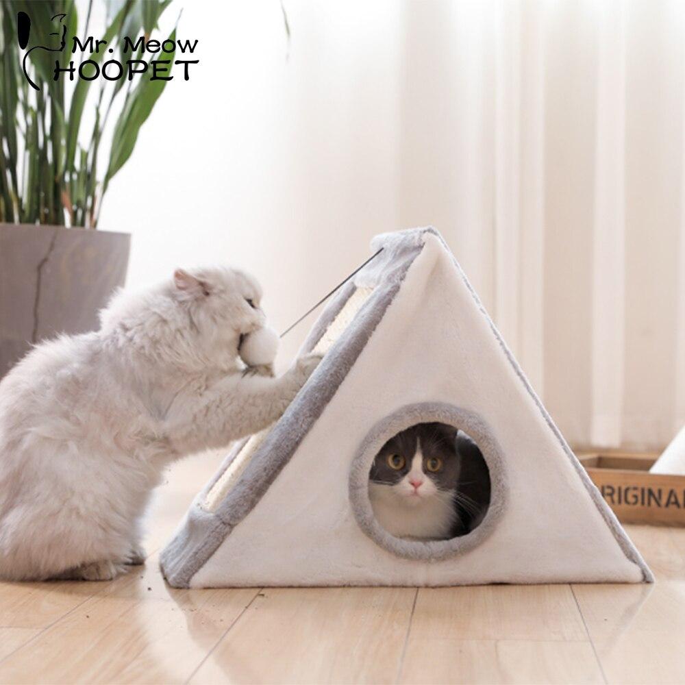 Hoopet Pet chat lit intérieur chenils maison pour chats chaton jouet tente tableau à gratter drôle jouer maison cosy Cave