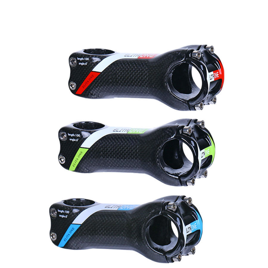 Bicycle Stem Carbon Fibre Stems Road/Mountain Stem Bicycles 6 Degree Bike accessories 3K 31.8mm length 70/80/90/100/110/120mm aluminum carbon fiber bicycle stem road mountain bike stem mtb 6 17 degree 31 8 60 70 80 90 100 110 120mm bicicleta parts