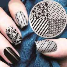 1 Pc Nails Stamping Plate Liner Geometric Nail Art Template Tools Accessories YZWLE18