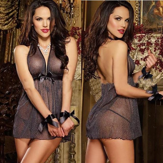 Tallas 2016 Nueva Llegada Nuevo Modelo hombro-correas Slip Vestido con cuello en v de Las Mujeres Falda de La Noche del camisón de Las Señoras Falda Sexy ropa interior