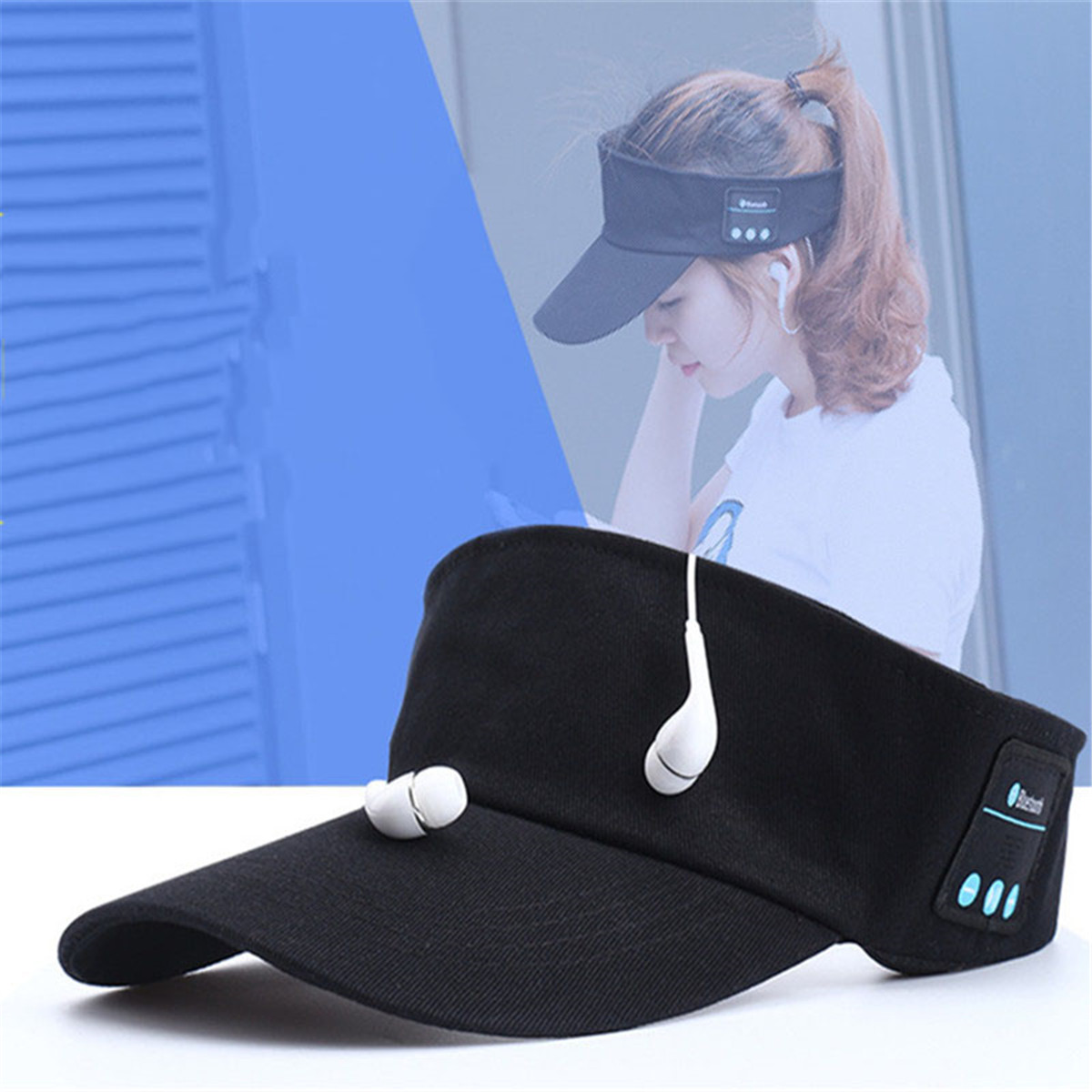 Wireless Sun Cap Bluetooth Earphones Baseball Sun Hat Music Headset Handsfree with Microphone for Most Phones Sports Adult Size bluetooth beanie hat and touchscreen gloves knitted bluetooth music hat built in stereo speakers winter hat for outdoor sports