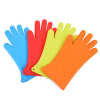 Kitchen Heat Resistant Silicone Glove Oven Pot Holder BBQ Cooking Mitt