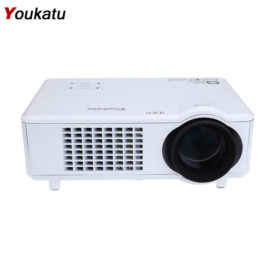 Youkatu T928 Home Theater LCD Projector 3000 Lumen High Brightness Engineering Education1280 x 768 Pixel FHD 1080P Media Player