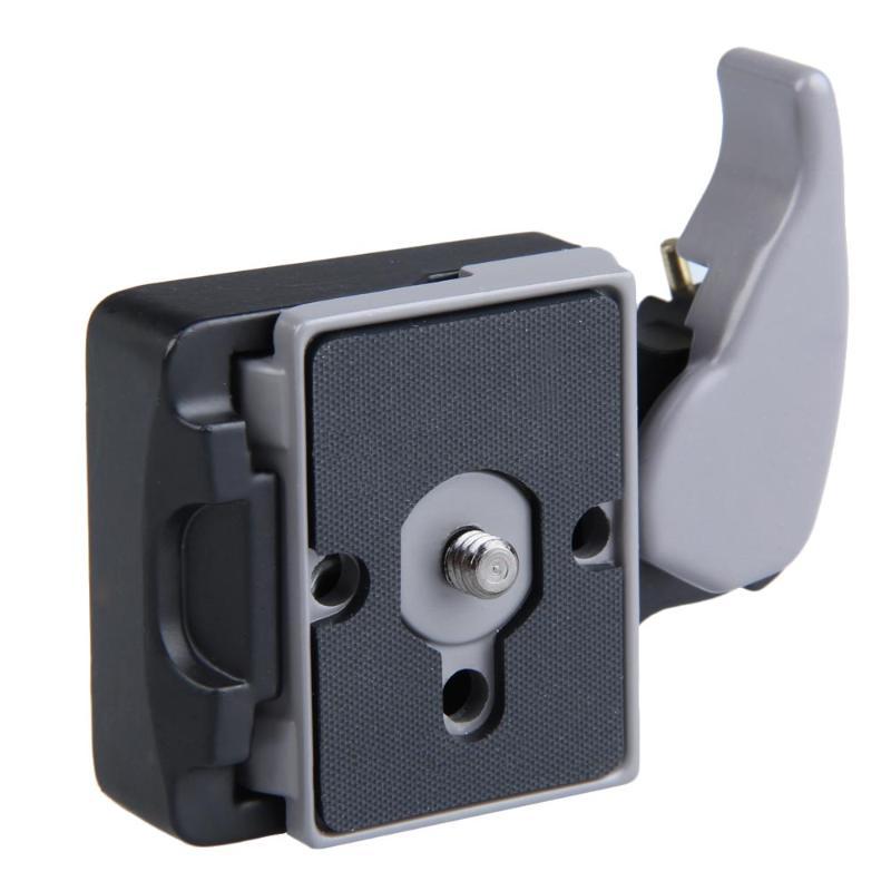 Aleación de Metal negro 323 Placa de liberación rápida adaptador de montaje con Manfrotto completa 200PL-14 Compat placa para cámara