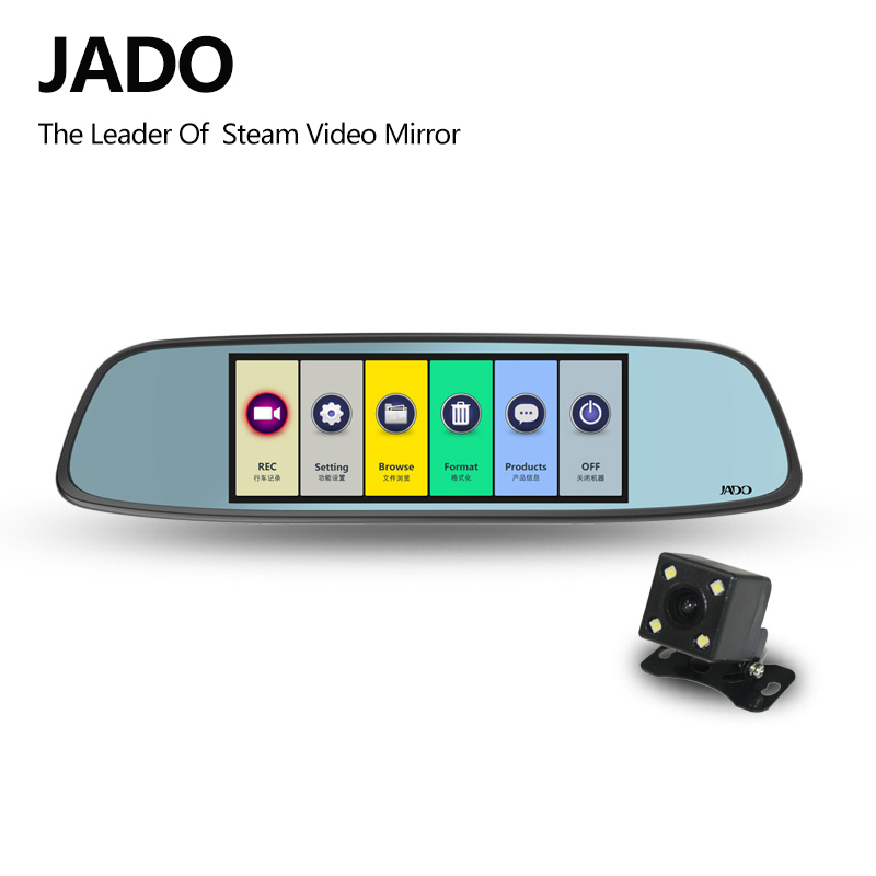 JADO D580 Car Dvrs 6.86 LCD Screen Full HD 1080P Car Dvrs Recorder Rearview Mirror Dash cam Registrar цена 2017