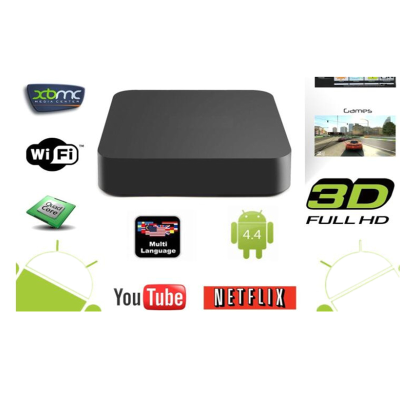 цена на M8S 2GB+8GB Android 4.4.2 TV Box with Quad-core Amlogic S812 2.4G/5G Wi-Fi Bluetooth US Plug Black