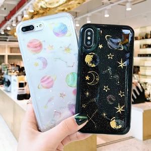 Glitter universe planet soft case for Huawei P8 lite 2017 P9 P10 P20 Lite Pro Nova 3 3i Honor 8X V10 Honor 8 9 Mate 10 20 lite(China)