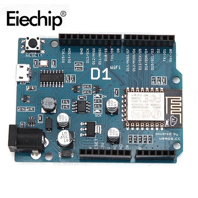 US $3 26 16% OFF|ESP8266 for arduino uno wifi shield Smart Electronics ESP  12E D1 WiFi uno based ESP8266 shield for arduino UNO R3 Micro IDE-in