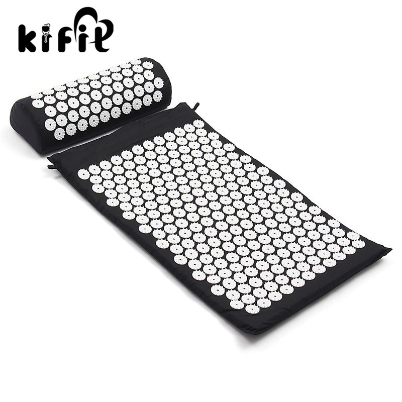 KIFIT Massage cushion Acupressure Mat Relieve Stress Pain Acupuncture Spike Yoga Mat with Pillow Pain Relief HealthCare soft laser healthy natural product pain relief system home lasers