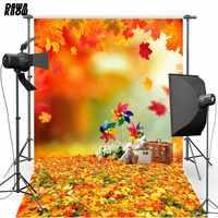 DAWNKNOW vinyle photographie fond automne Polyester toile de fond feuilles tombées pour enfants Photo Studio S1763