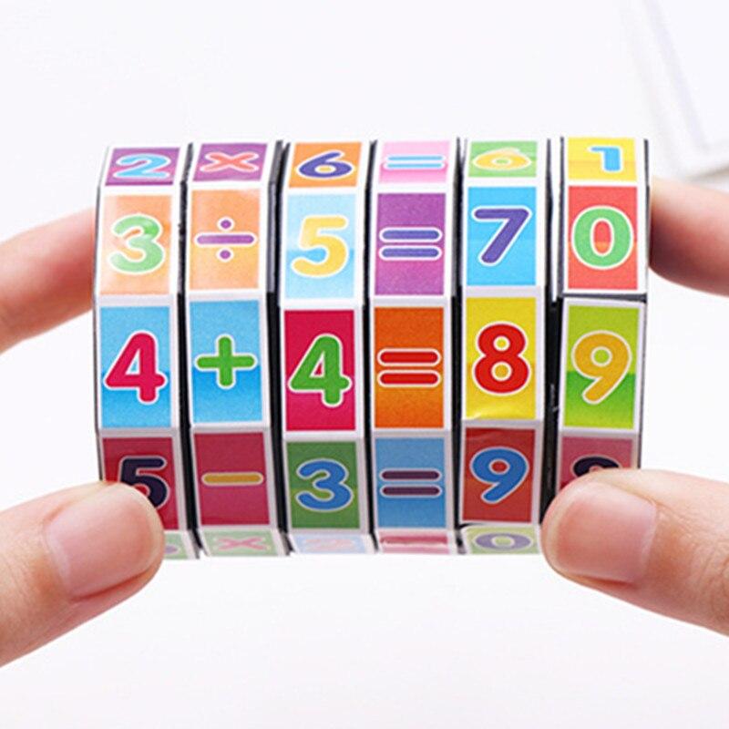 2 pcs/lot Mathematics Digital Cube The magic cube of children's educational aids