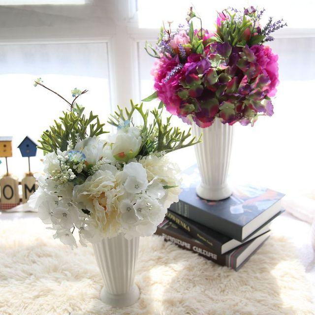Hot sale!! 13 inch Peony & Hydrangea Silk Flower Bouquet Wedding ...