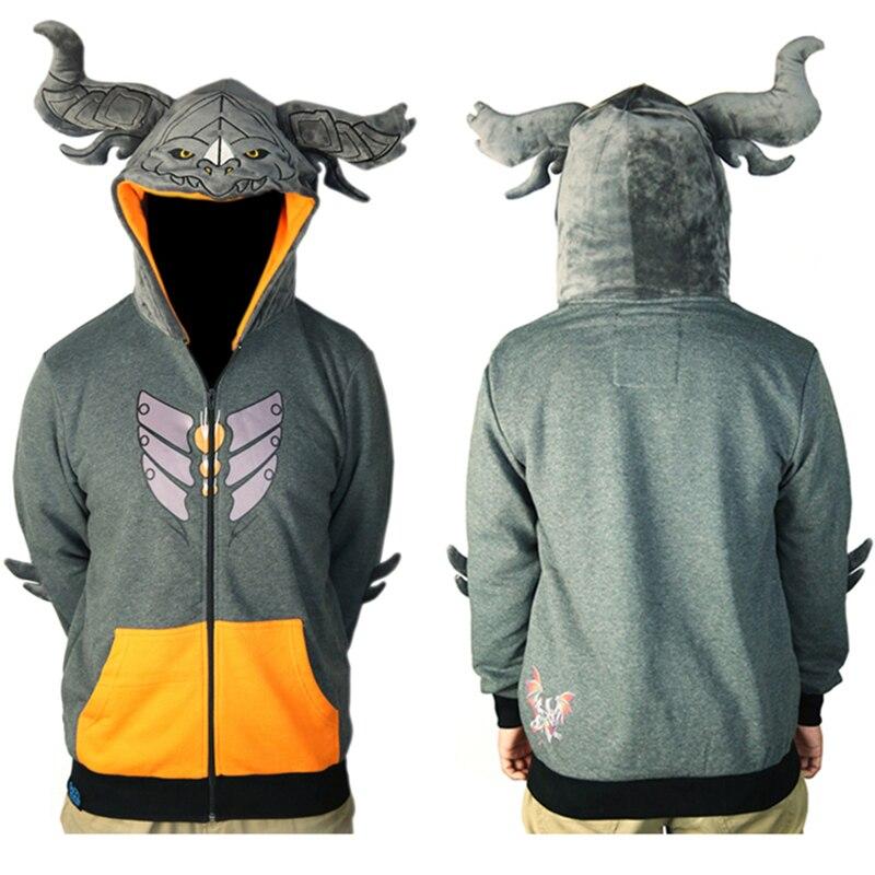 Wow Deathwing толстовка с милой шляпой игры Neltharion для мужчин карман капюшоном бренд высокое качество теплое пальто на молнии топы Корре