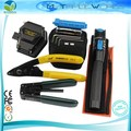 FTTH Fiber Optic Tool Kit with SKL-6C Optical Fiber Cleaver and 1mW Visual Fault Locator Fiber Optic Laser Pen Cable Strippers