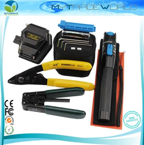 bilder für FTTH Glasfaser Tool Kit mit SKL-6C Optische Faser-spalter und 1 mW Visuellen Fehlersuch Glasfaser Laser Stift Kabel stripper