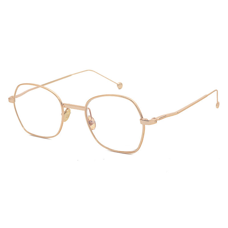 Fashion Alloy Big Size Eyeglasses Optical Frame Prescription Glasses for Women and Men Eyewear