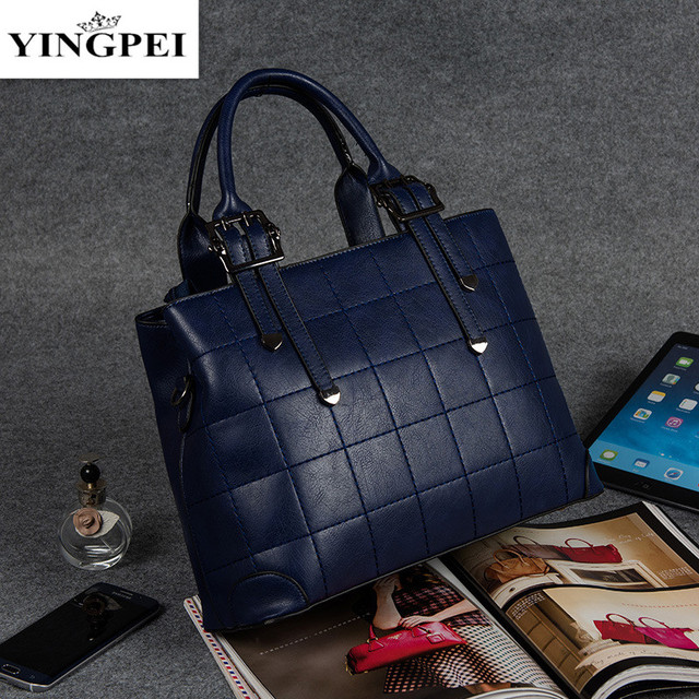 New 2017 Fashion PU Leather Women Handbag Patchwork Natural Shoulder Bag Famous Brand Women Bag Casual Tote sac High Quality YIN