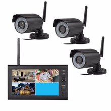 Wireless surveillance kit 7 Inch 2.4GHz Wireless CCTV digital camera Home Security DVR recorder system 4CH outdoor IR camera