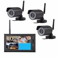 Draadloze surveillance kit 7 Inch 2.4 GHz Draadloze CCTV digitale camera Home Security dvr systeem 4CH outdoor IR camera