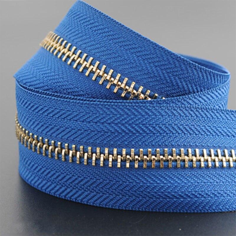 5 м/лот 5# Нейлон молния DIY ручной работы сумки палатка рюкзак домашний текстиль молнии и аксессуары - Цвет: blue