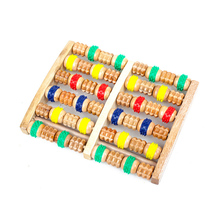 Foot Massage Roller Wooden Six Row Color Wooden Family Relaxation Feet Massager Massage Tool household plastic wooden foot massage roller foot care tool massager stool relaxation acupoint acupressure sole massage roller