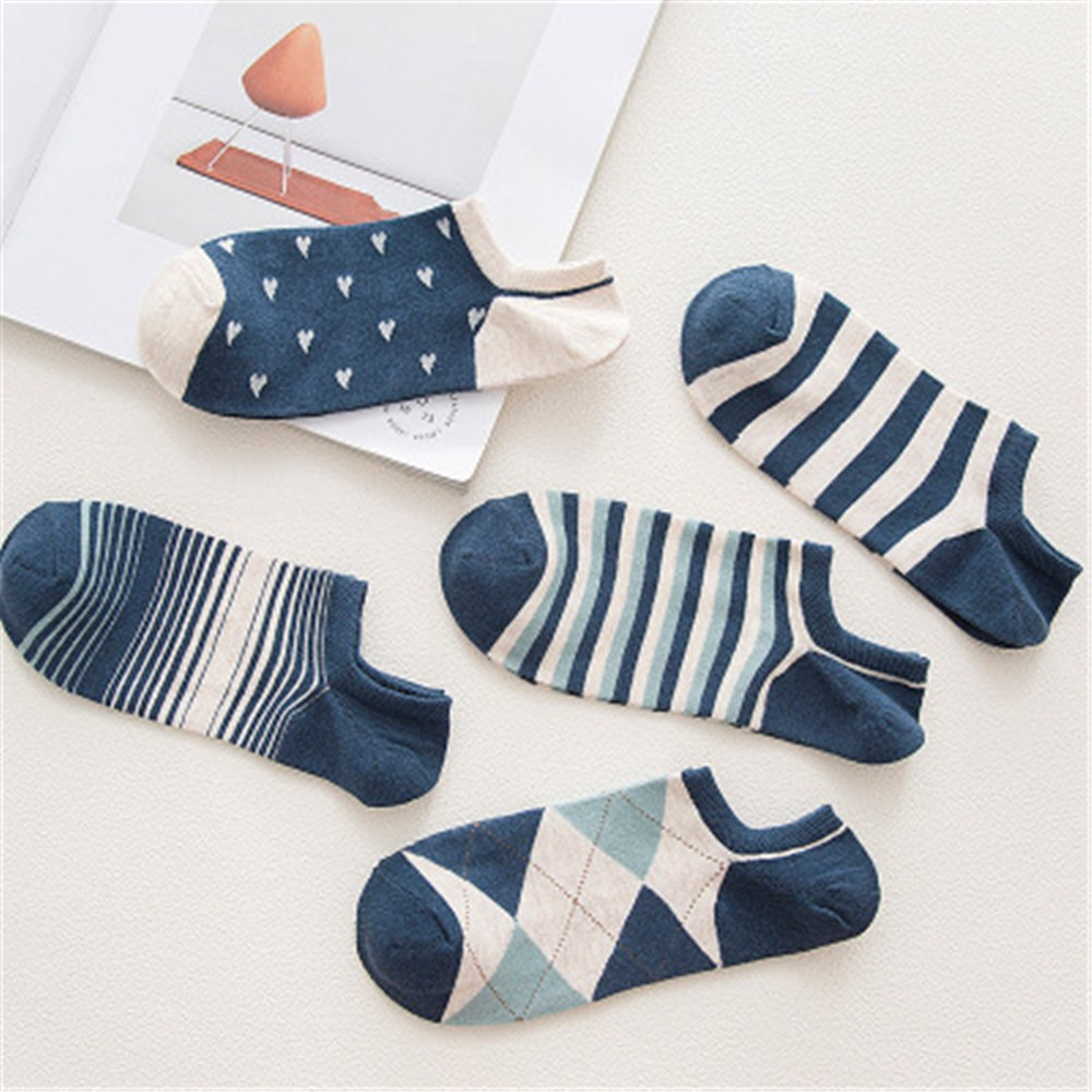 Mens Socks Casual Work Business Cotton Stripe Series Fashion Sock Comfortable For Female #20