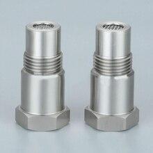 2 шт. CEL кислородный сенсор Eliminator Адаптер Мини каталитический конвертер с фильтром