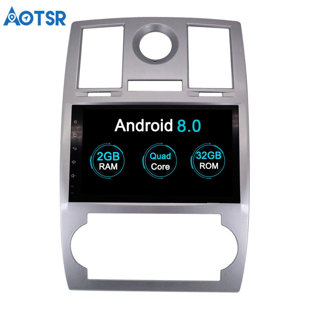 Aotsr 9 HD Android 8 0 car GPS for Chrysler 300C 2000 2014 Car DVD font