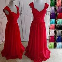 5014 Two Shoulder Aqua Silver Blue Purple Color Chiffon Long Party Elegant Design Lace Bridesmaid Dresses