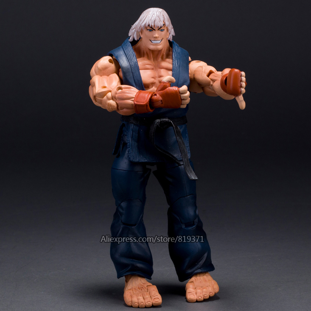 NECA Game Player 18cm Ultra Street Fighter 4 Survival Model Ken Masters Ryu Guile Gouki Action Figure Hot Toys 6 Style Juguetes neca player select 18cm ultra street fighter 4 survival model ken masters ryu guile gouki action figure toy 6 style white black