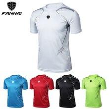 FANNAI, Мужская футболка для спортзала, для бега, фитнеса, повседневная, сухая, мужская рубашка, Спортивная, на заказ, Спортивная Мужская футболка для спортзала, белая рубашка для кроссфита