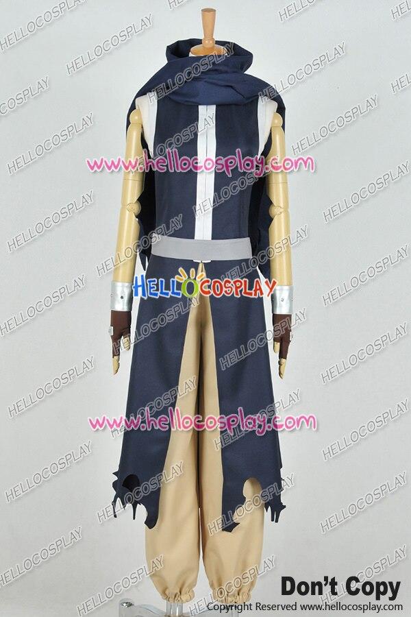 Fairy Tail Cosplay Kurogane Gajeel Redfox Costume Combat Uniform H008