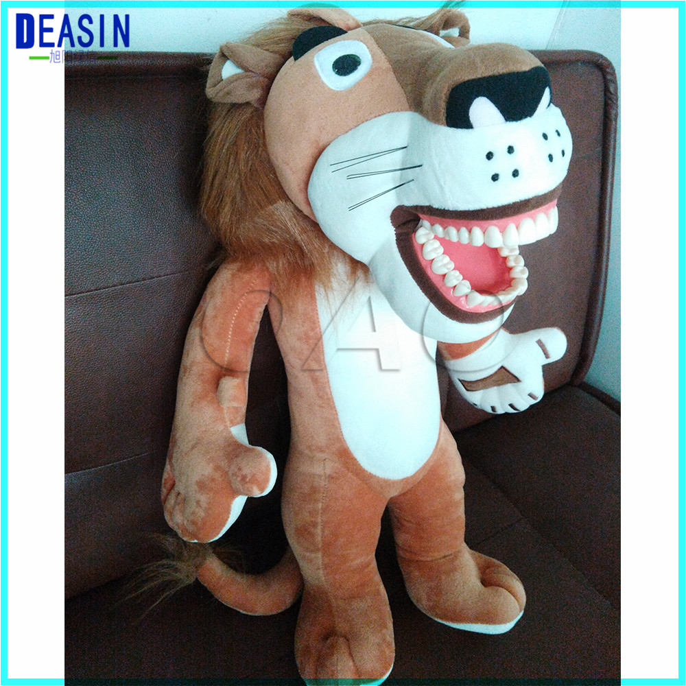 Early education brushing teeth doll Dental Clinic gift brushing teeth model Lion a big toothbrush as gift image