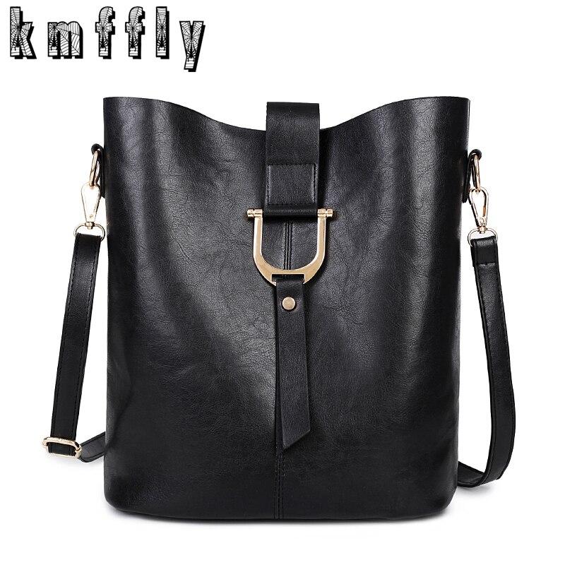 Large capacity Bucket high quality Pu leather Shoulder font b Bag b font font b luxury