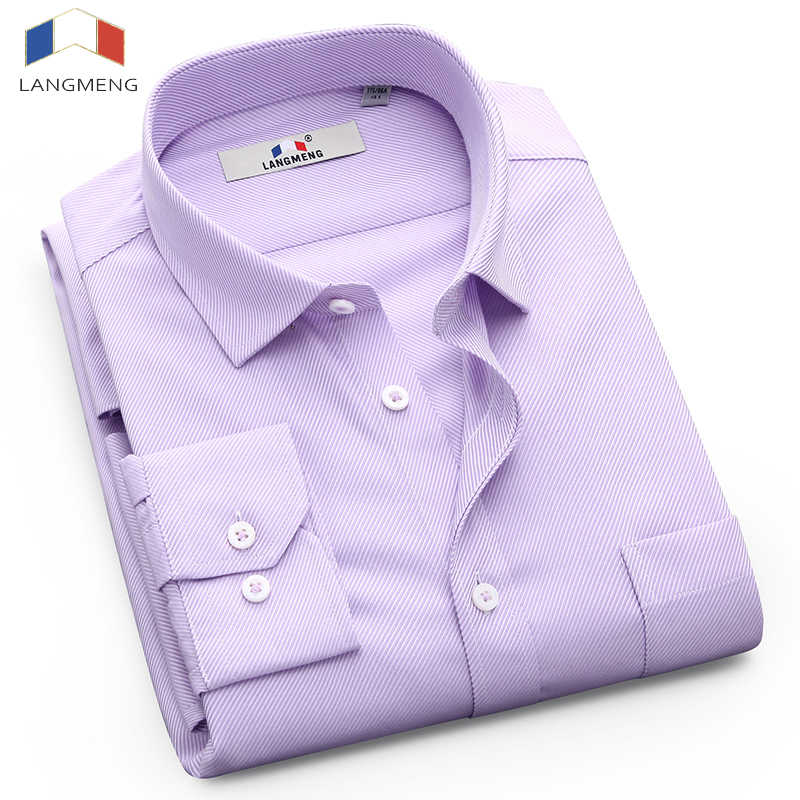 584c57585 Langmeng 2017 brand clearance sale long sleeve spring autumn casual shirts  100% cotton mens dress