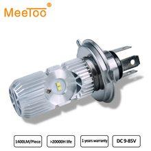 Faros Led H4 para motocicleta, bombillas H4 HS1 6000K para Moto 20W 1400Lm, lámpara de haz, iluminación eléctrica para coche