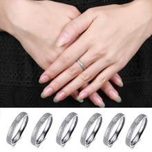 LNRRABC 1PC New Arrival Cute Lovers' Matte Surface Alloy Slivery Rings Korean Style Fashion Jewelry(China)