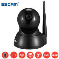 Escam QF007 Mini Wireless Home Surveillance Cameras HD 720P 1MP WiFi IR Alarm Pan Tilt Security