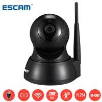 Escam QF007 Mini Wireless Home Surveillance Cameras HD 720P 1MP WiFi IR Alarm Pan Tilt Security