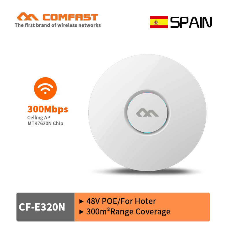 COMFAST 300Mbps wireless indoor AP router openwrt Ceiling AP Wi-Fi Access Point AP 6dbi antenna 48V poe wi fi signal amplifier
