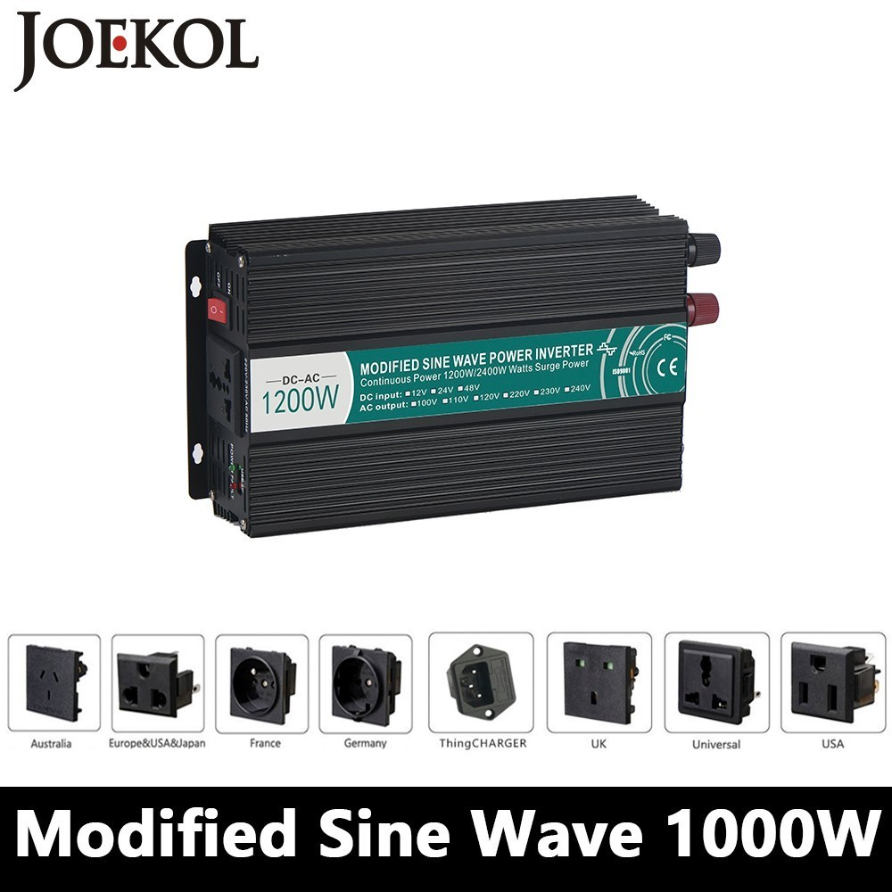 1000W/1200W Modified Sine Wave Inverter,DC 12V/24V/48V To AC 110V/220V,off Grid Solar Power Inverter,voltage Converter For Home dc house usa uk stock 300w off grid solar system kits new 100w solar module 12v home 20a controller 1000w inverter