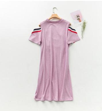 Large Size Short Sleeve Nursing Clothes 2018 Summer Maternity Breastfeeding Clothing Modal Dress for Pregnant Women WX1020