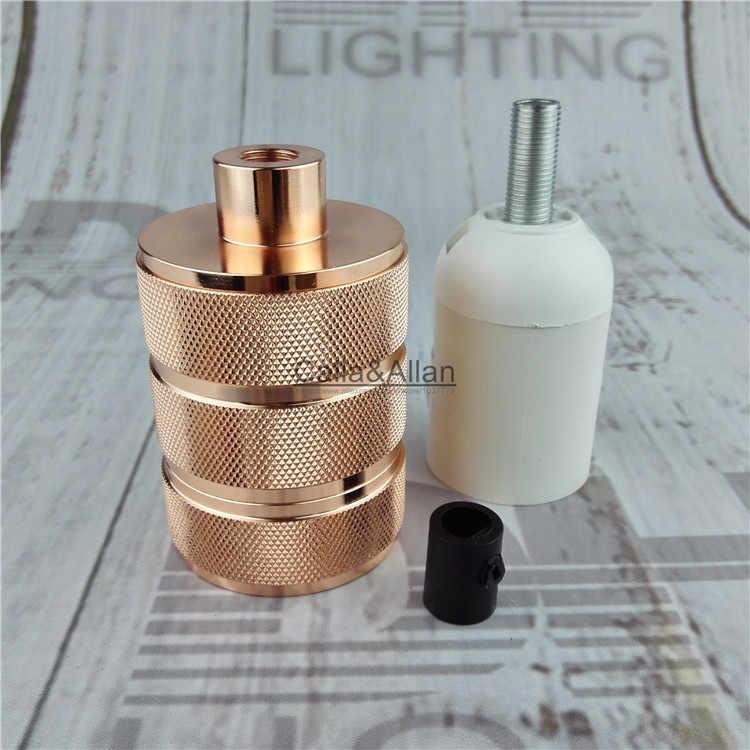 Wholesales 8 colors aluminum Retro Vintage Edison E27 Screw Bulb Antique Brass Base Lamp Bulb Holder Pendant Lighting Socket