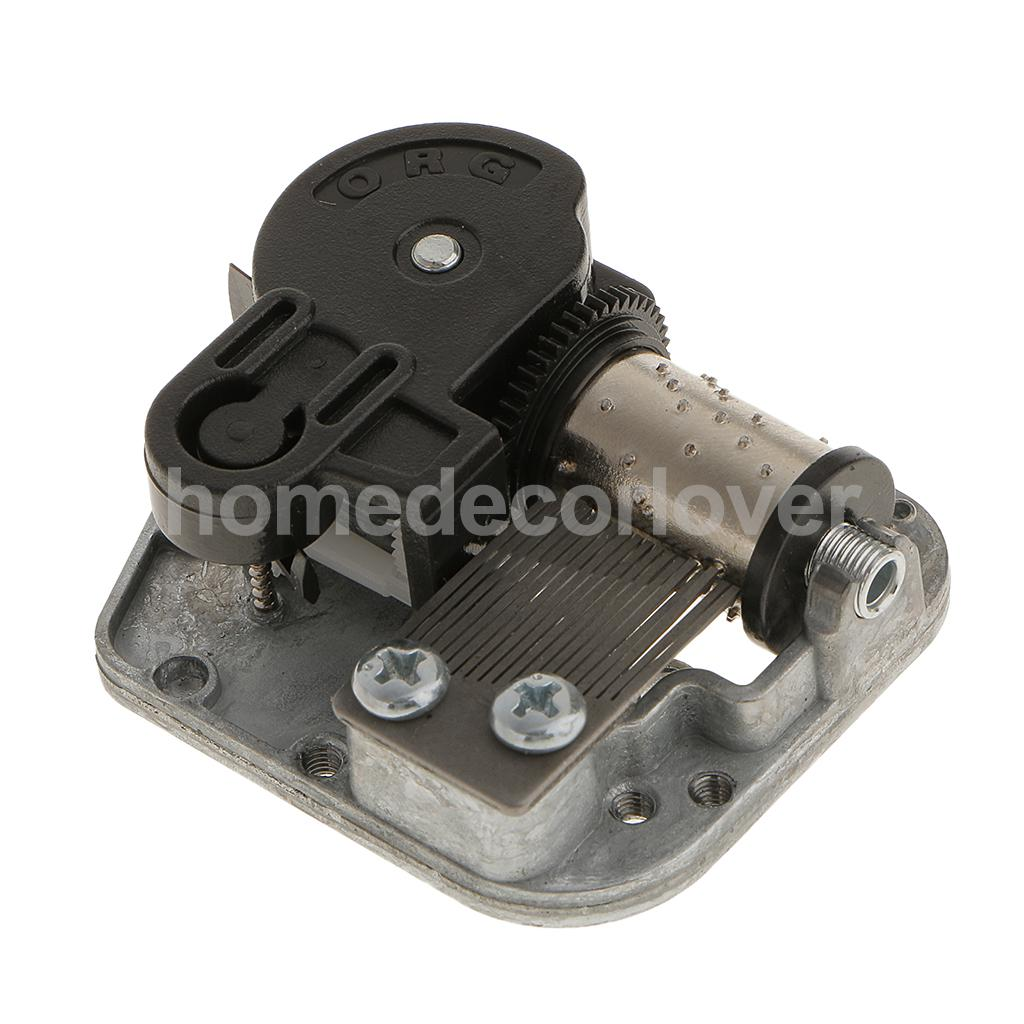 Wind Up Musical Movements Parts DIY Accessories for Music Box with Winder Screws Silver