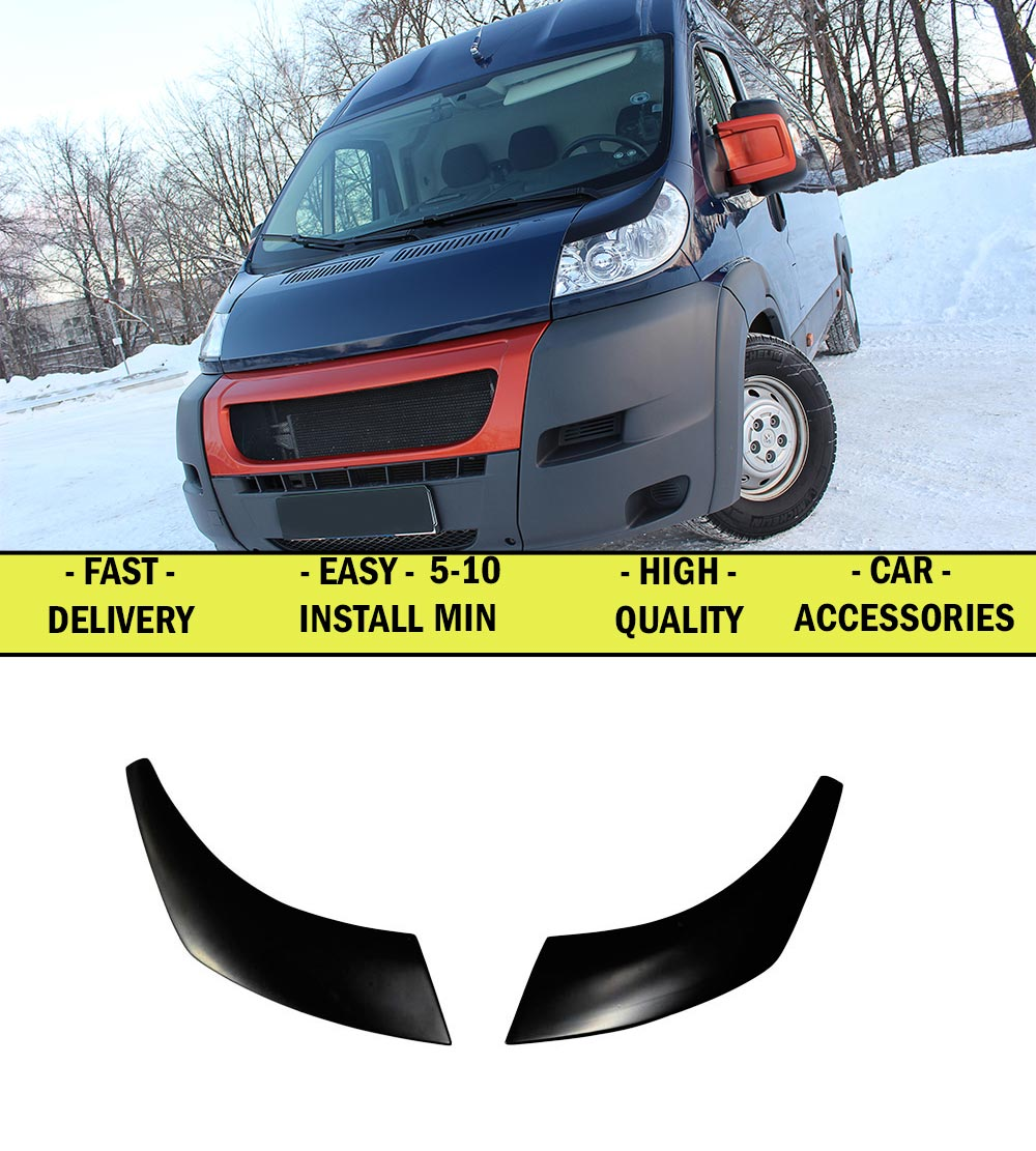Cilia for Fiat Ducato 2006-2013 eyebrows on headlights exterior car styling lights decoration tuning decoration plastic ABS