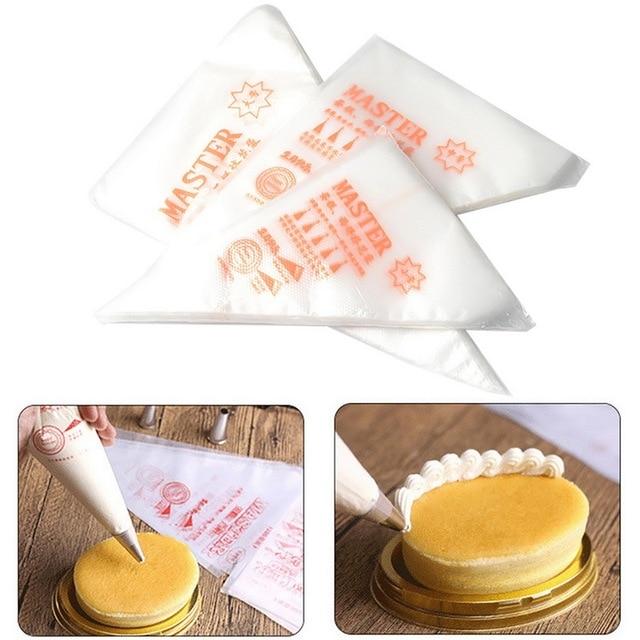 Hoomall 100 PCs Baking Công Cụ Icing Piping Bánh Pastry Túi Bánh Túi Trang Trí Fondant Cream Pastry Mẹo Dùng Một Lần Pastry Bag