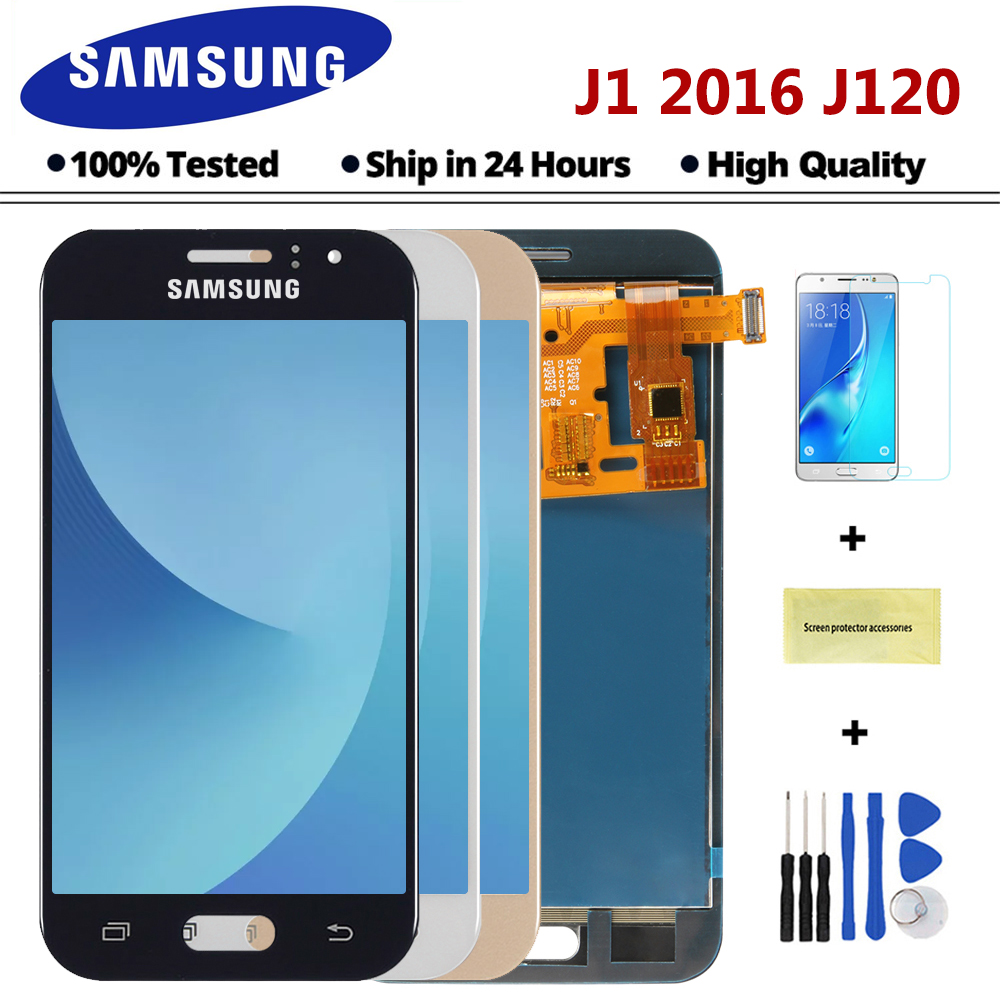 Sinmaytai LCD para Samsung Galaxy J1 2016 J120F J120DS J120G J120M J120 pantalla LCD de pantalla táctil digitalizador Asamblea reemplazo