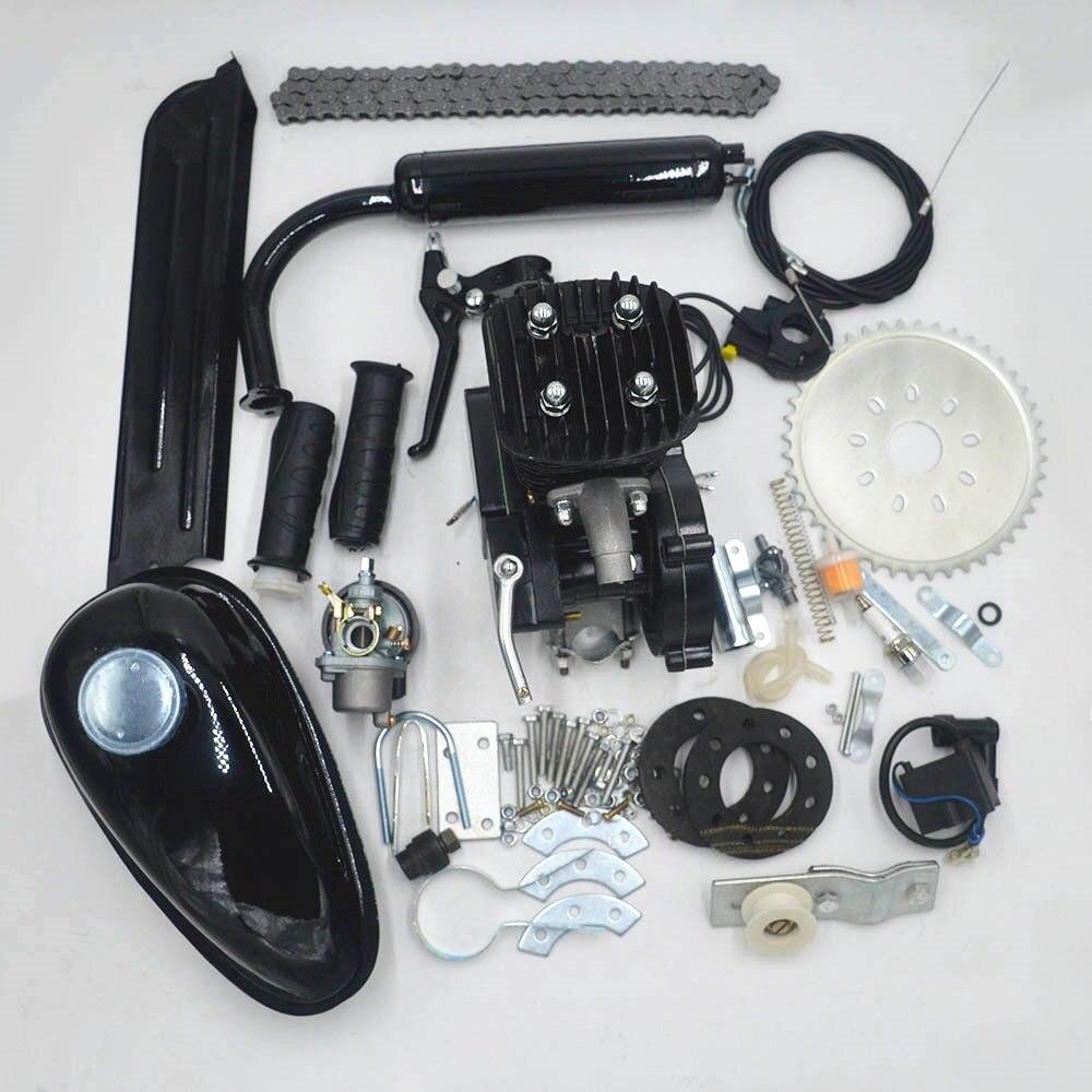 80cc 2 тактный моторный велосипед газовый двигатель комплект низкий уровень шума низкая вибрация использование для DIY шоссейный велосипед mtb