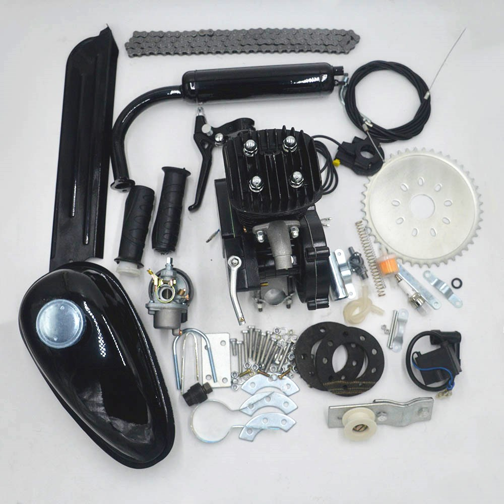 80cc 2 Stroke Motorized Bicycle Gas Engine Motor Kit low Noise low Vibration Use for DIY road bicycle mtb mountian bike engine outrider hot sale ork powerg high quality new 2 stroke 80cc gasline bicycle engine kit